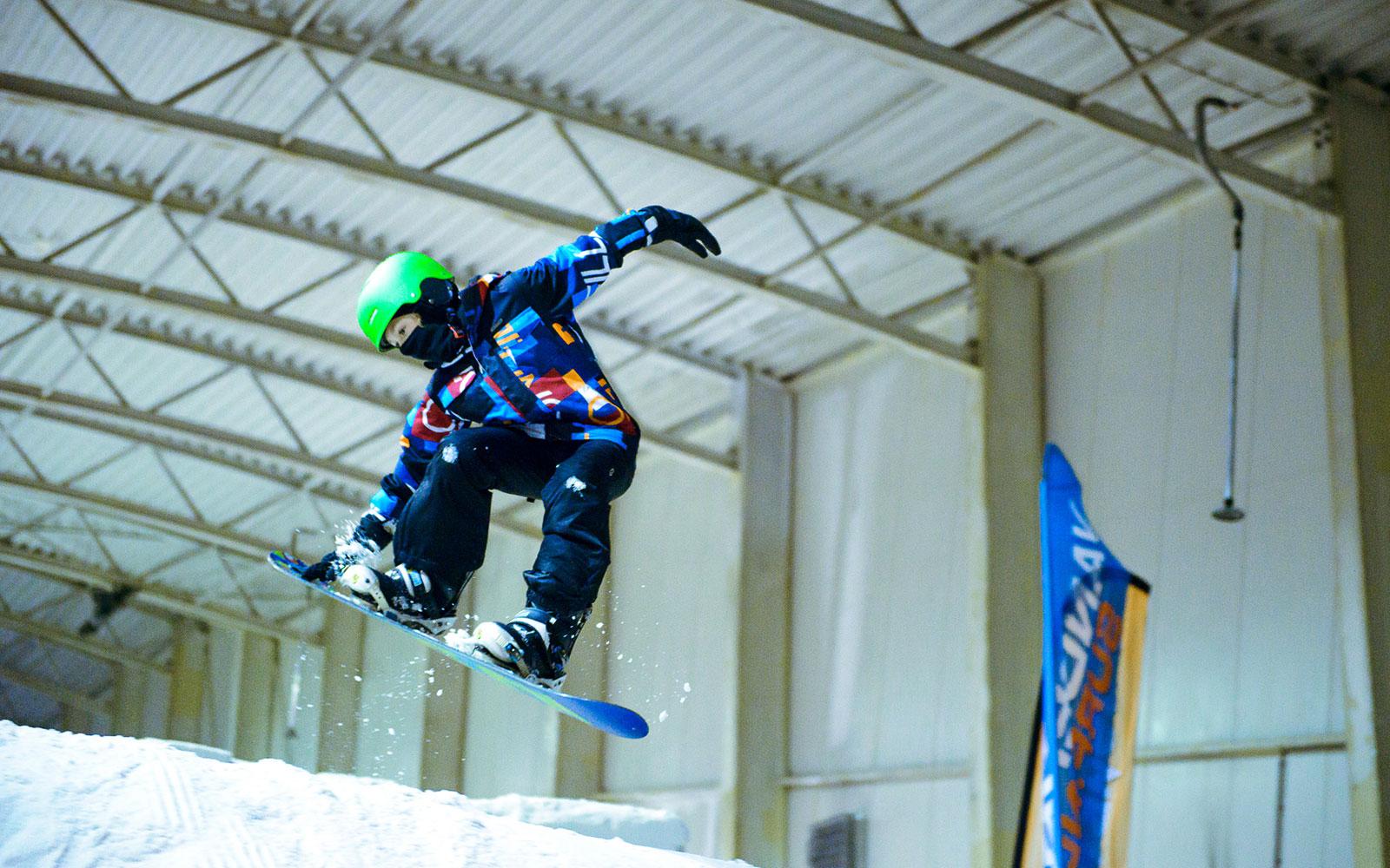 Naschoolse snowboarding bij Snow Planet Amsterdam